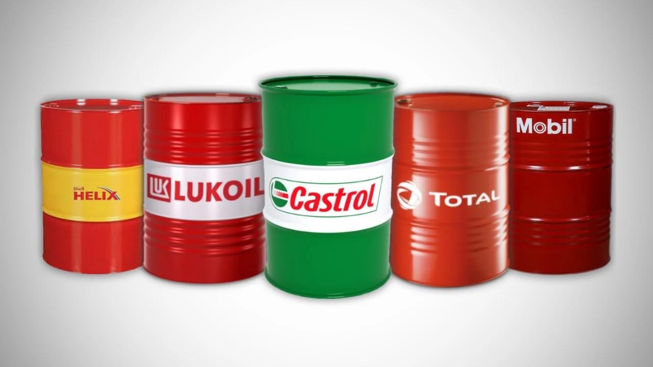 Моторное масло в двухсотлитровых бочках