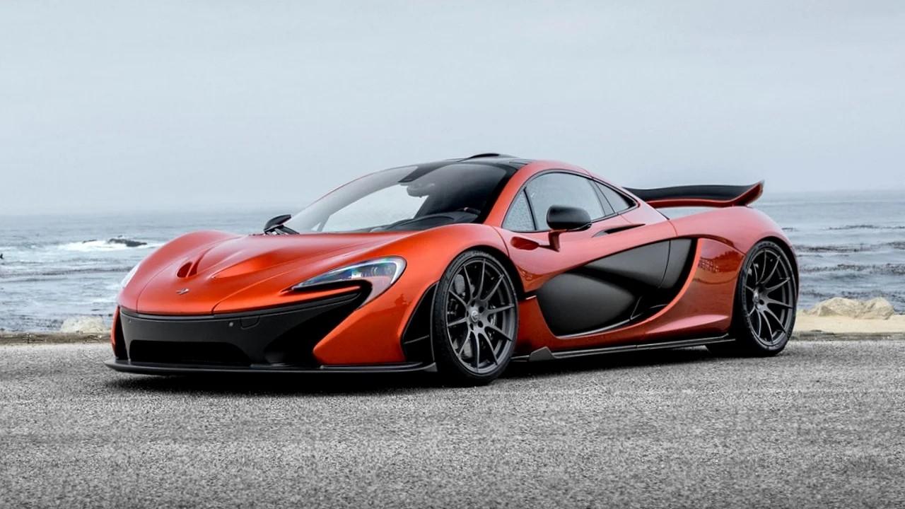Необычные фары McLaren P1