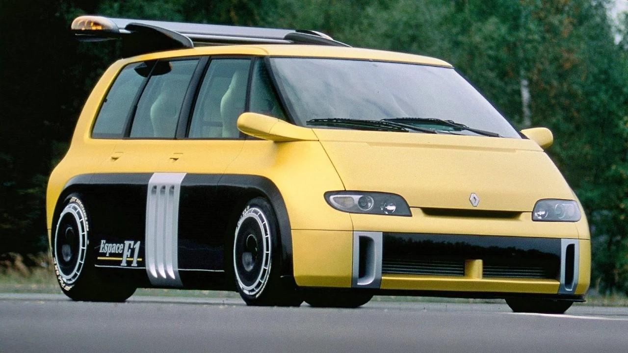 Необычный гоночный автомобиль Renault Espace F1