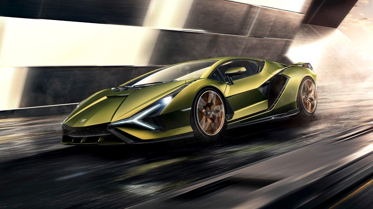 Гибридный автомобиль Lamborghini Sian