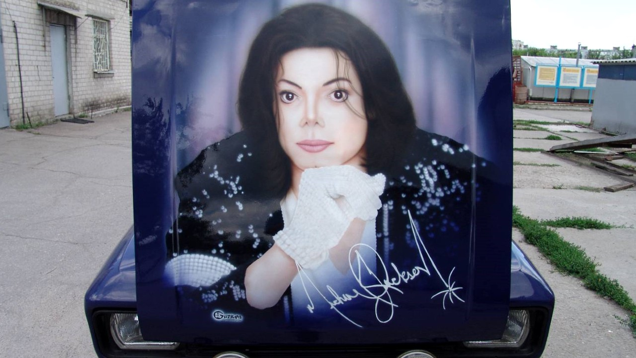 Майкл Джексон. Рисунок на автомобиле
