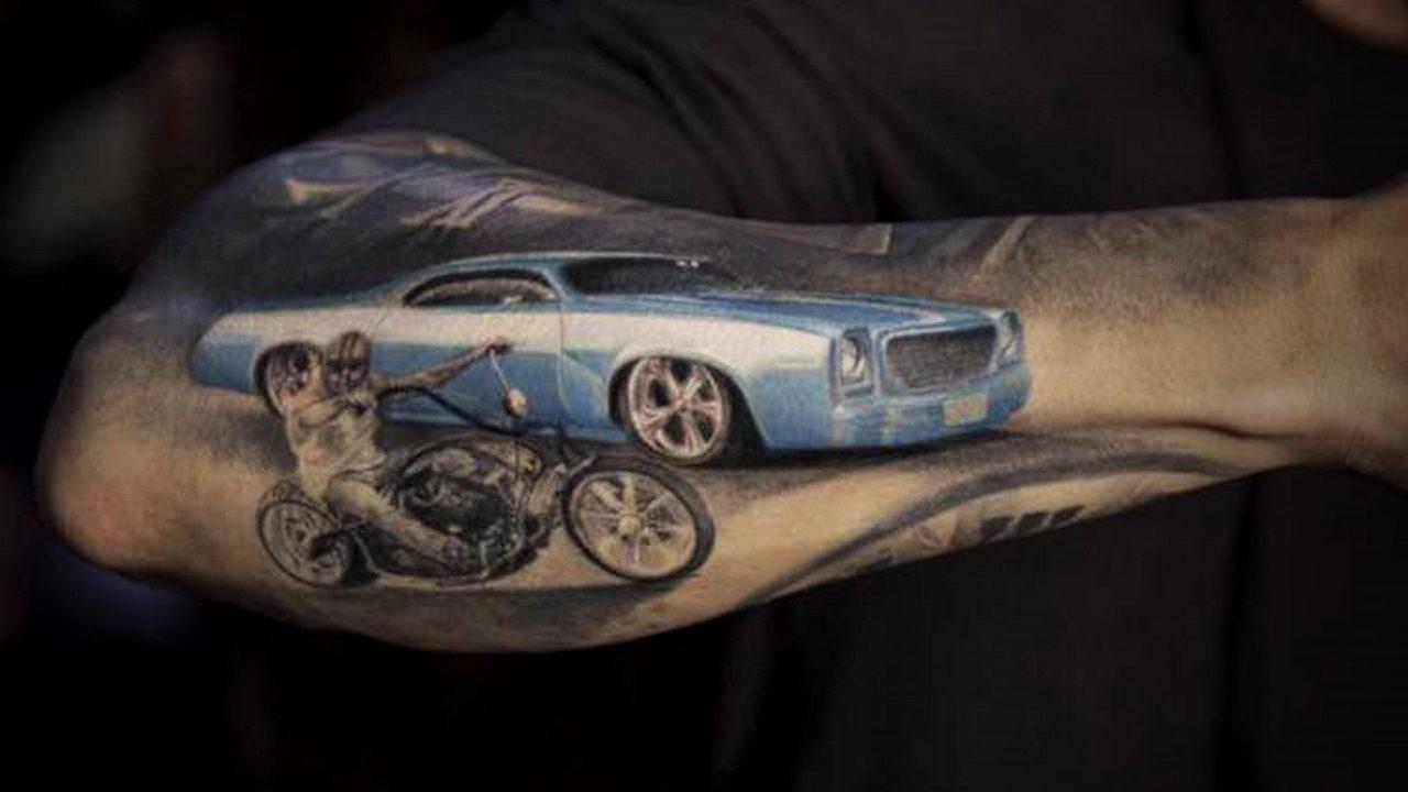 Татуировки на автомобильную тематику