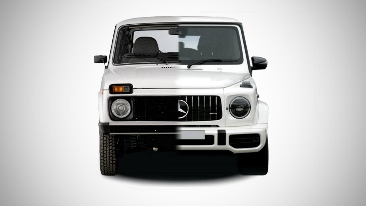 Российский дизайнер скрестил Lada Niva и Mercedes-Benz G-Class