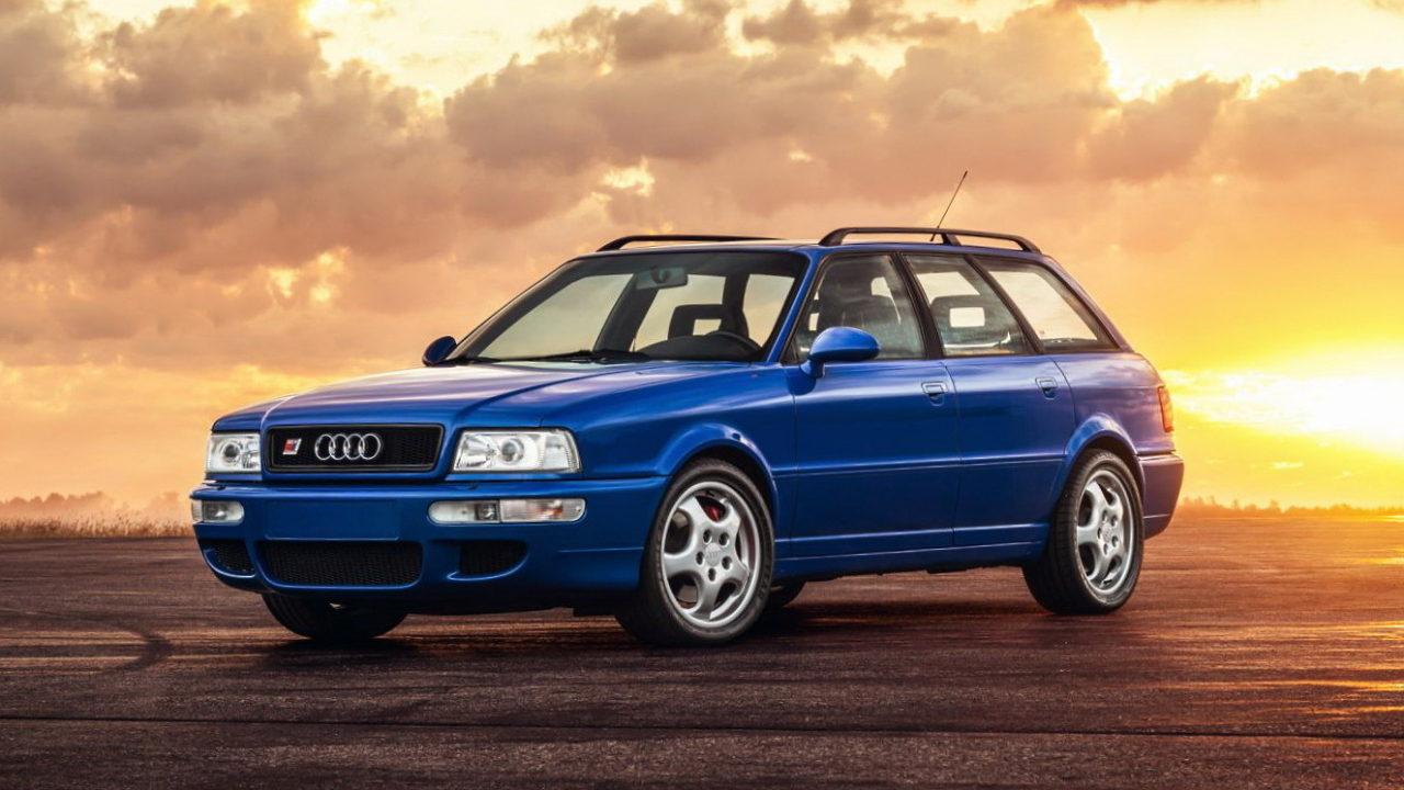 Автомобиль Audi RS2 разработанный совместно инженерами Audi и Porsche