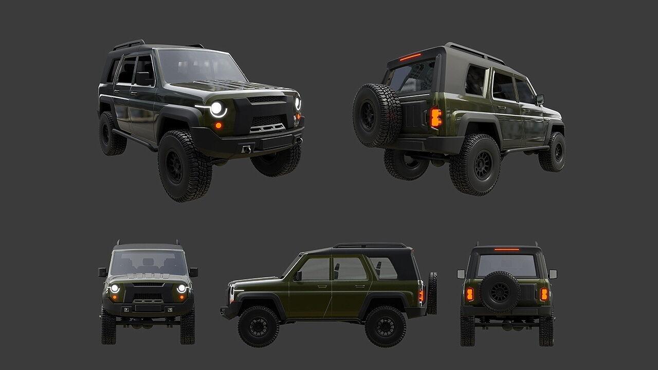 Новое поколение УАЗ Хантер