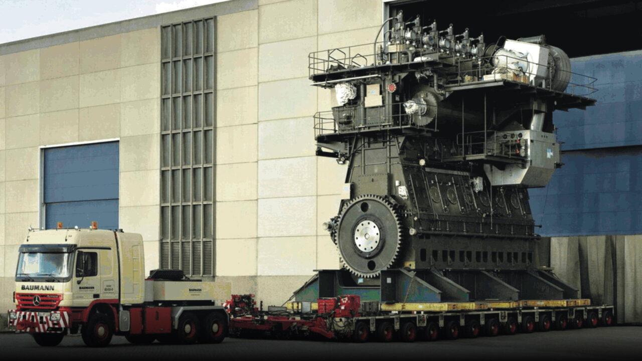 Самый большой в мире двигатель Wärtsilä-Sulzer RT-flex96C