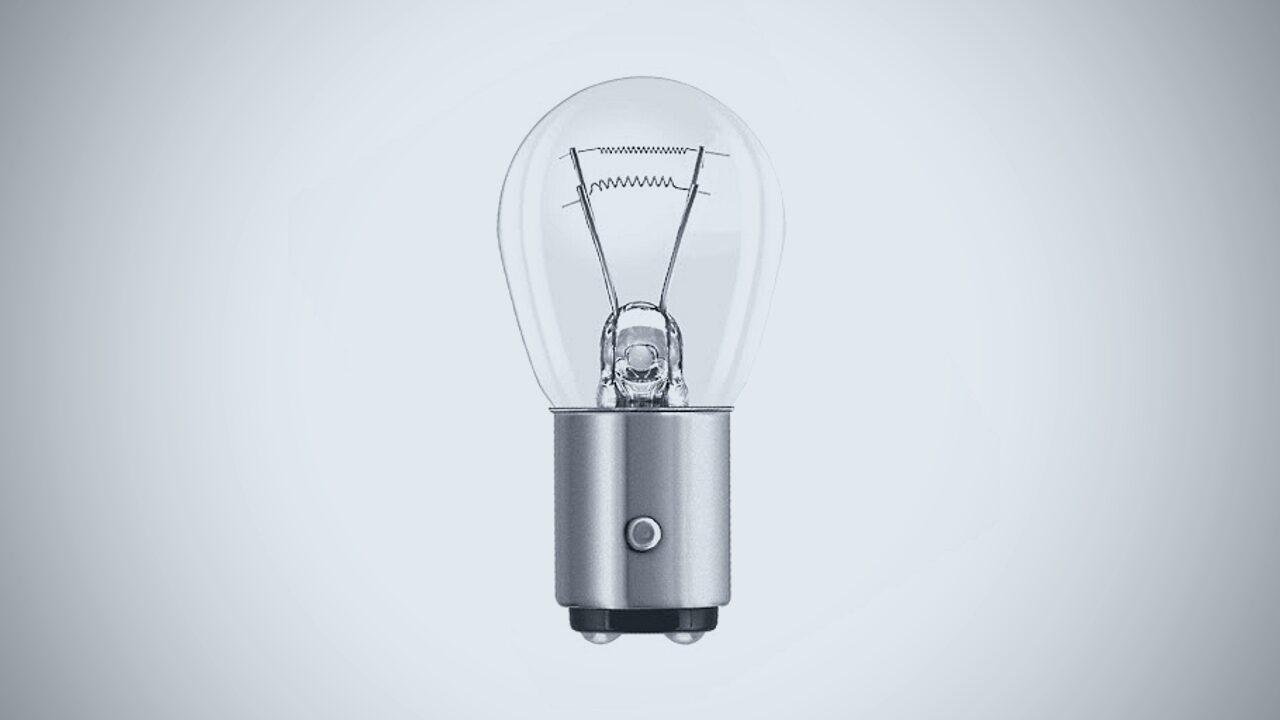 Лампочка накаливания с двумя нитями накала