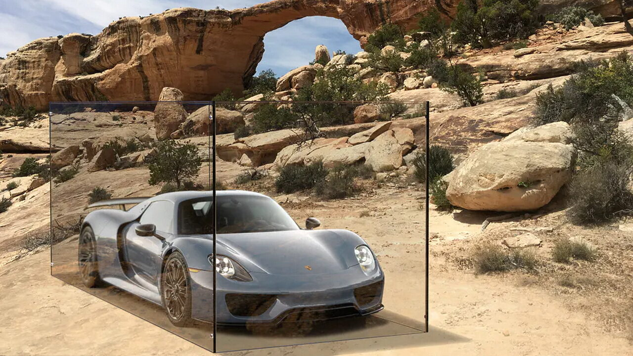 Porsche в природе