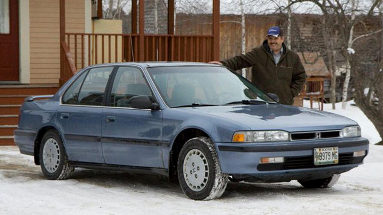 Джо Лосисеро и его автомобиль Honda Accord с пробегом 1,6 млн. км.