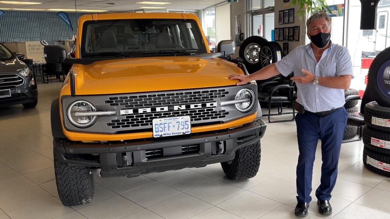 Американцы раскритиковали Ford Bronco за неудачное расположение регистрационного номерного знака