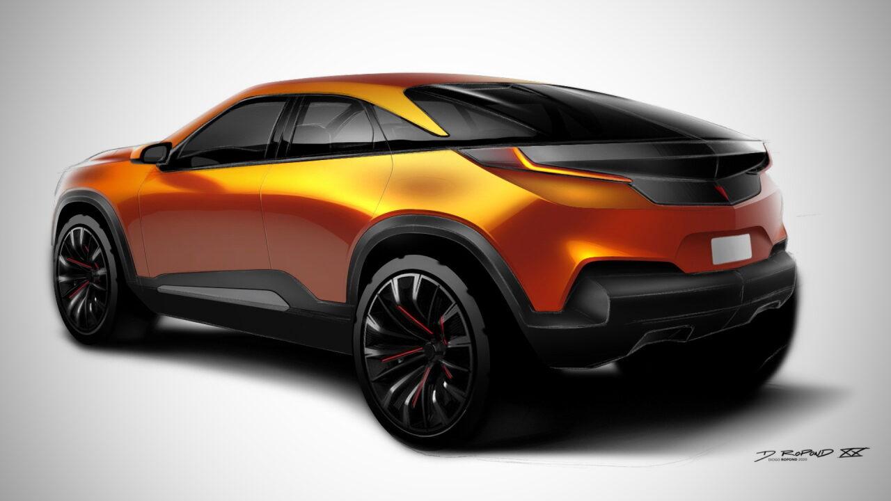 Бразильский дизайнер показал свою версию нового Pontiac Aztek