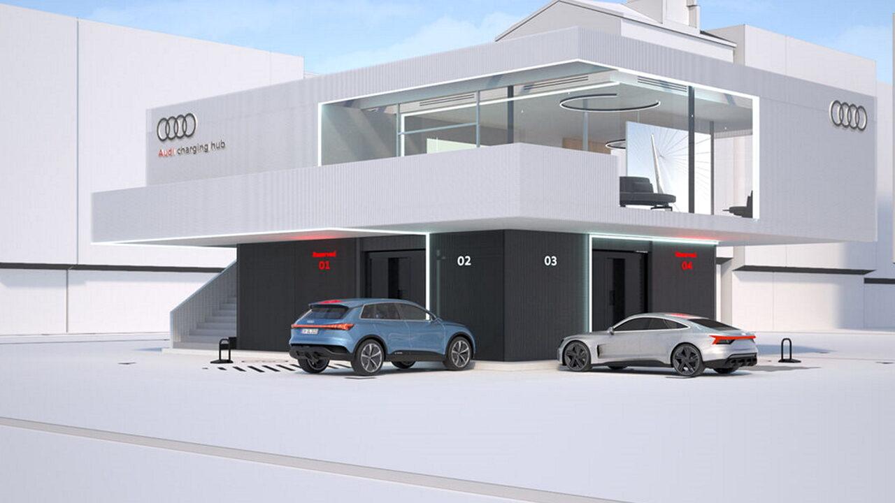 Audi начинает строительство сети зарядных станций премиального класса