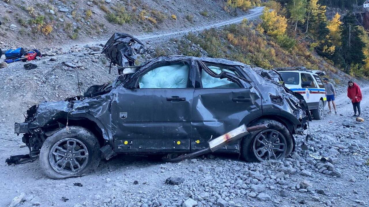 Американка на внедорожнике Ford Bronco Sport упала со 122-метрового обрыва и выжила