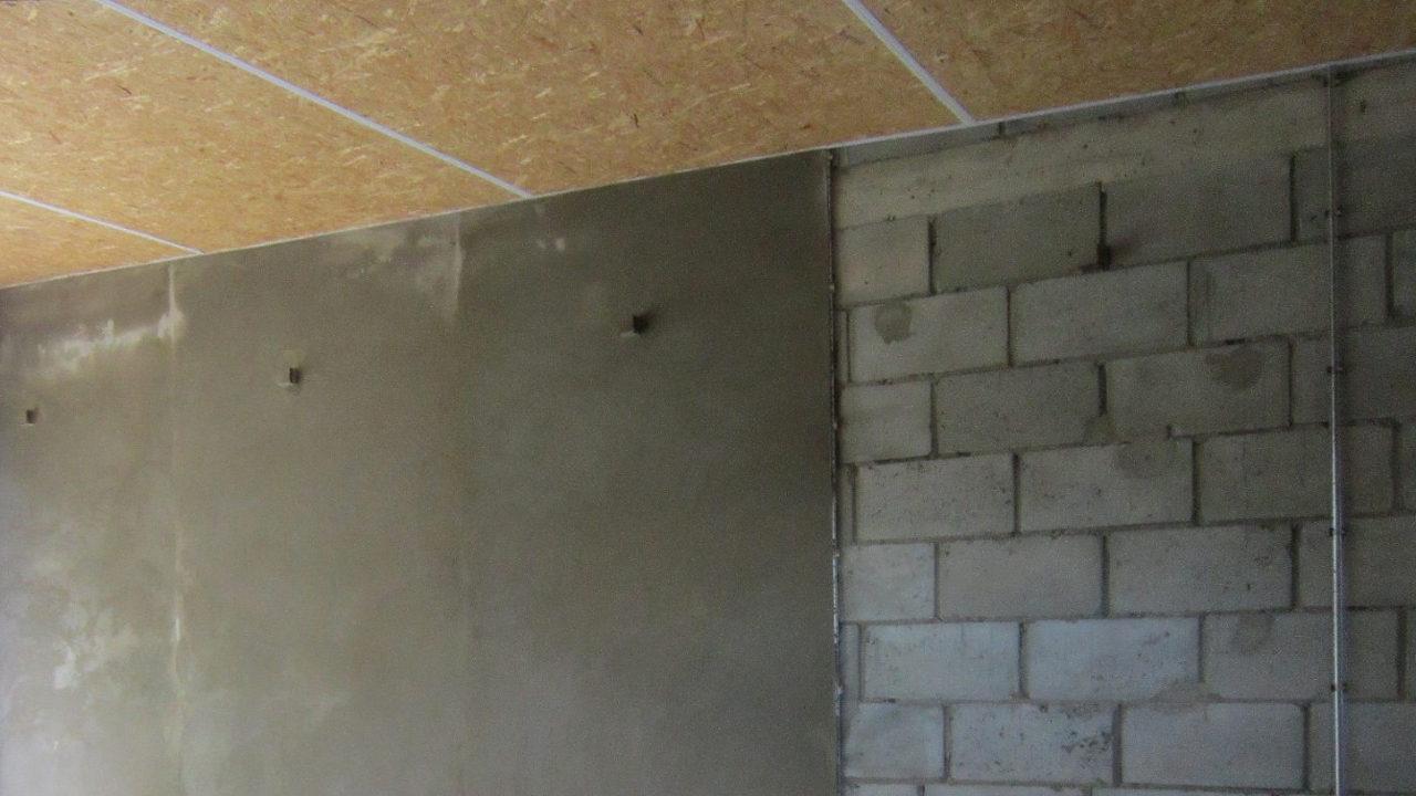 Ремонт стен в гараже